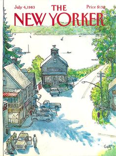 """""""The New Yorker"""" cover by Arthur Getz, July 4, 1983"""