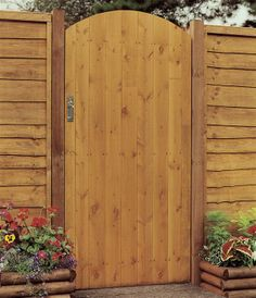 Wood Fence Arched Entry | Home > Landscaping and Planters > Garden Gates >