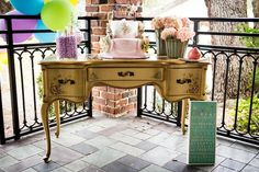 Vintage First Birthday, Event Design, First Birthdays, Vanity, Facebook, Mirror, Furniture, Home Decor, Dressing Tables