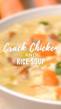 Crack Chicken and Rice Soup – this soup should be provided with a warning label! SO GOO … – kids friendly dinners for picky eaters Rice Recipes, Soup Recipes, Chicken Recipes, Cooking Recipes, Buffalo Chicken Soup, Chicken Rice Soup, Soups With Chicken Broth, Creamy Chicken, Gourmet