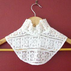 1890s Restored Antique Victorian Guipure Lace Guimpe or Collar. £42.00, via…