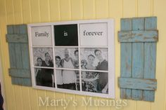 Want to know what to do with an old window and some fence boards?