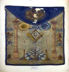 Robert Burns' masonic apron that he received when he joined the St Ebbe's Lodge Royal Arch Chapter in 1787.