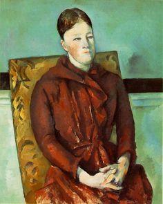 """Cezanne - Madame Cézanne en bleu (in Blue) c. 1886 (160 Kb); Oil on canvas, 73.6 x 61 cm (29 x 24""""); The Museum of Fine Arts, Houston,"""