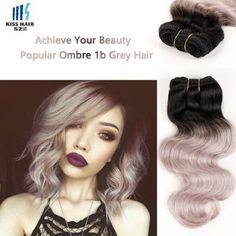 Grey Virgin Peruvian Hair Weft | Hair Care