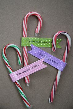 Candy cane christmas gift ideas