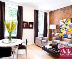 Harlem brownstone living room