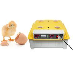INCUBADORA JN8-48 Incubadora control digital automatica. Volteo automatico. control digital de la temperatura.  lector digital de la humedad. Contador de dias de incubacion y alarma por exceso de temperatura
