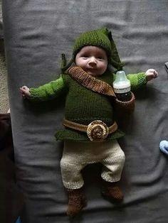 Zelda costume. Mira fabyyy!! Algún día así disfrazas a mi nieto n.n