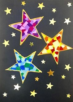 Christmas DIY: beautiful Stars in Camaïeu mosaic style stickers Christmas Ad, Christmas Nail Art, Simple Christmas, Christmas Humor, Christmas Crafts, Christmas Decorations, Diy For Kids, Crafts For Kids, Diy Crafts To Do