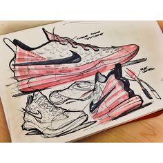 Sneakers sketches by Jalal Enayah