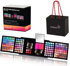Ivation All-in-One Makeup Kit Gift Set – Contains Truly Vast Collection of Eyeshadows, Blushes, Powders, Eyeliners, Lip Glosses & More – Folds Out from x x Cube – Best Deal of The Day Makeup Kit For Kids, Kids Makeup, Makeup Set, Cute Makeup, Makeup Ideas, Make Up Kits, Kids Make Up Set, Eyeliner, Eyeshadow