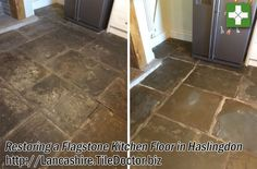 Flagstones are a durable Sandstone based material that give a solid feel to any floor, however while large and impressive to look at they can be very rough and un-even. This isn't so much of a problem when Flagstones are used externally for patios and pathways, but rough surfaces trap dirt and when these tiles are used internally, they are much easier to maintain if the stone is smooth and sealed.
