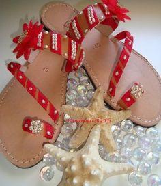 handmade greek sandals Greek Sandals, Handmade, Hand Made, Craft, Handarbeit