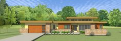 Marvelous Four Bedroom Modern - 34002CM | 1st Floor Master Suite, CAD Available, Contemporary, Modern, Northwest, PDF, Prairie, Split Bedrooms | Architectural Designs