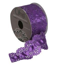 """Butterfly 1.75"""" In Purple Ribbon"""