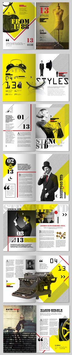 13 Styles Magazine Design || Tony Huynh #publication