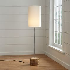 Tribeca Floor Lamp - Crate and Barrel Large Floor Lamp, Wooden Floor Lamps, Large Lamps, Wood Lamps, Contemporary Bedroom Furniture, Contemporary Floor Lamps, Contemporary Home Decor, Crate And Barrel, Free Standing Lamps
