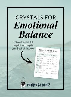 8 Crystals for Emotional Balance — Mumbles & Things Blog — Click through to read the post and download the list of crystals for emotional balance. #ontheblognow #crystallovers #crystalhead #crystallover #crystalpower #crystalstones #crystalmeanings #emotionalbalance