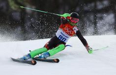DAY 16:  Alex Puente Tasias of Spain competes during the Alpine Skiing Men's Slalom http://sports.yahoo.com/olympics