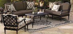 Frontgate Glen Isle Midnight Collection - Outdoor Furniture Sets