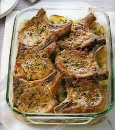 From Carolina Country magz: Pork Chops with Scalloped Potatoes.  I used olive oil instead of canola oil - 3/1/2013.