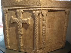 Baptismal font of the Croatian Duke Višeslav who ruled from 785-802. Currently on display at the Museum of Croatian Archaeological Monuments in Split.