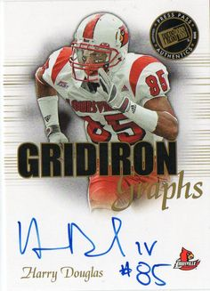2008 Press Pass SE Harry Douglas Gridiron Graphs Autograph Card Atlanta Falcons