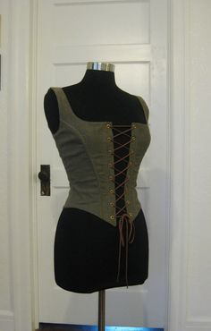 Sage Green Renaissance Bodice Corset by RELthreadz on Etsy, $85.13