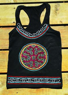 Jungle Art by the Shipibo People of the Amazon, Peru on an Extra Small Tank top by BecuzWhy on Etsy