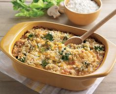 Few things are more comforting than a broccoli and rice casserole. Combine the flavors of Daisy Sour Cream and Cottage Cheese for a tasty side or dinner. (Cottage Cheese And Fruit) Rice Bake Recipes, Healthy Cookie Recipes, Healthy Appetizers, Vegetarian Recipes, Cooking Recipes, Great Recipes, Dinner Recipes, Favorite Recipes, Dinner Ideas