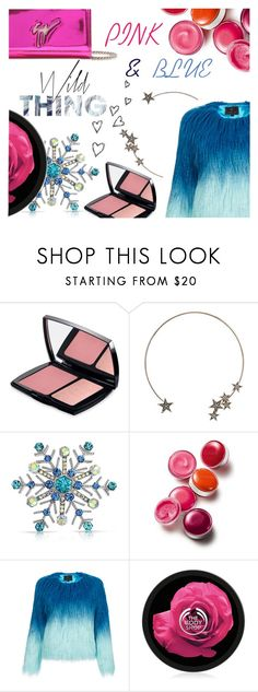 """#PINK&BLUE"" by juromi ❤ liked on Polyvore featuring Lancôme, Topshop, Brinley Co, Clinique, Unreal Fur and Giuseppe Zanotti"