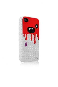 iPhone 4/4S Monsta Case White/Red