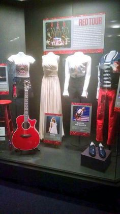 RED Tour costumes and instruments were added to the Taylor Swift Grammy Museum...