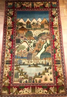 150 Years Old Kashan (Persian) ft x ft Persian Rug, Traditional Design, 19th Century, Bohemian Rug, Carpet, Interiors, Rugs, Antiques, Gallery