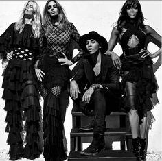 Les supermodels des années 90 de retour dans la dernière campagne Balmain. Claudia Schiffer, Naomi Campbell, et Cindy Crawford.