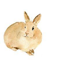 Cute bunny art Print of my  original watercolor by TheJoyofColor, $21.00