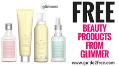 FREE Beauty Products from Glimmer Samples Free Samples Without Surveys, Get Free Samples, Free Beauty Samples, Free Makeup Samples, Free Stuff By Mail, Get Free Stuff, Free Products, Beauty Products, Become A Product Tester