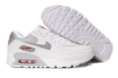 Air Max 90 Mens Grey Red White #Sneakers #Zapatillas