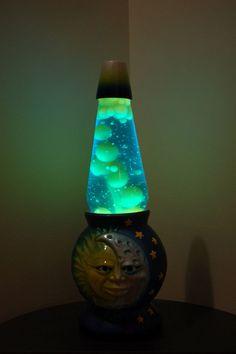 Niall's Green Lava Lamp with Moon & Stars Bass Hippie Bedroom Decor, Cute Bedroom Decor, Table Lamps For Bedroom, Cool Lava Lamps, Make A Lava Lamp, Mood Light, Lamp Light, Purple Lava Lamp, Cute Furniture