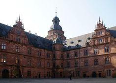 Aschaffenburg, Schloss Johannisburg, Innenhof (Johannisburg Palace, courtyard)
