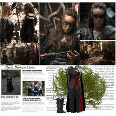Alycia Debnam Carey as Lexa Commander of the Woods Clan. [The 100 - Season2] by albacampbell on Polyvore featuring Rick Owens, Balmain, AllSaints and KD2024