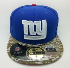 NEW YORK GIANTS SALUTE NFL NEW ERA 59 FIFTY FITTED HAT CAP (SIZE 8 77ecb18a1