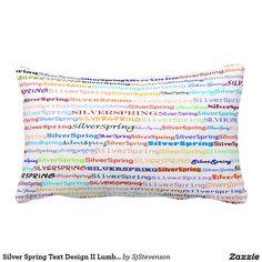 Silver Spring Text Design II Lumbar Pillow