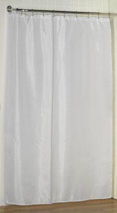 White Water Repellent Fabric Shower Curtain Liner By Carnation
