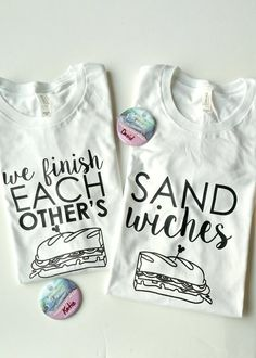 We Finish Each Other's Sandwiches Disney t-shirts
