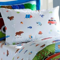 Olive Kids Camping Trip Cotton Pillowcase, 20/30-Inch, Multi by Olive Kids. $19.99. Measurement: 20 by 30-inch. 100% cotton. Machine wash cold. delicate cycle. tumble dry. Made from 180tc 100-percent percale ultra soft cotton. The Camping Trip pillowcase features colorful images of tents, vans, trees, and forest animals against a soft blue ground.