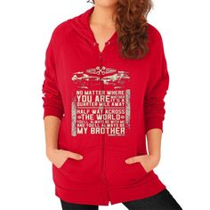 Fashions alwaysbrother Zip Hoodie (on woman)