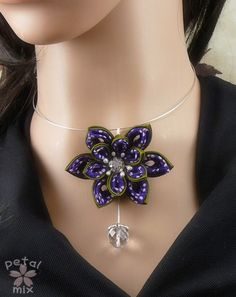 kanzashi necklace