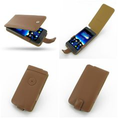 PDair Leather Case for Asus PadFone Infinity A80 - Flip Type (Brown)